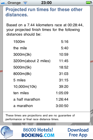 Found This Last Night A Really Handy App For Pace Calculation As Well Being Predictor Race Times Over Different Distances