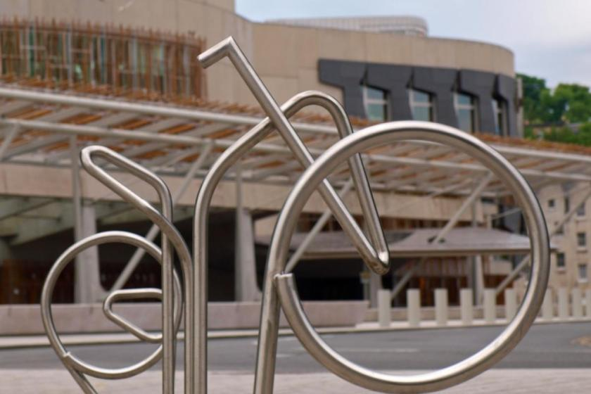 Scottish Parliament Bike Stands (copyright Simon MacMichael)
