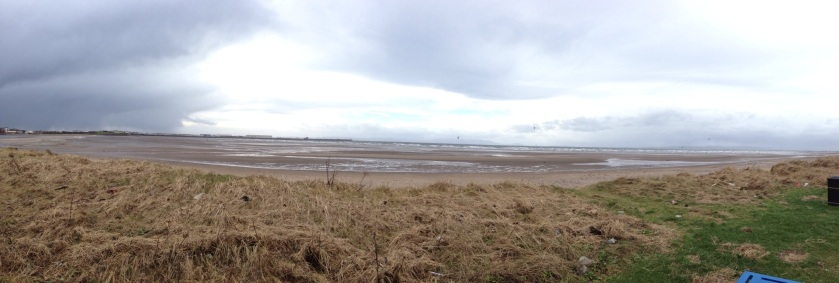 Barassie beach just to the north of Troon harbour