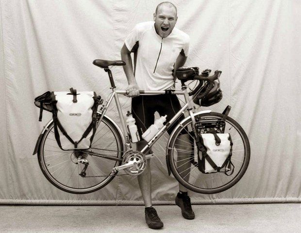 Dave Lipps had his portrait taken in 2009 at Missoula, Mont., while cycling across the country. It was part of a special exhibit at Cascade Lock in May  2014
