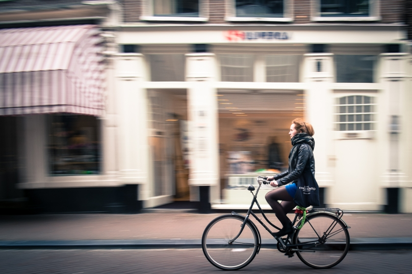Amsterdam cyclist  ©Richard Crawford