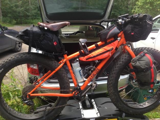 assembled on bike rack