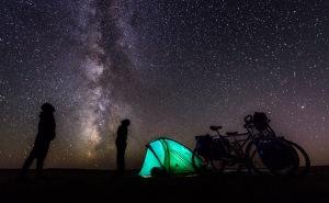 Camping under the stars on the Gobi desert. Mongolia